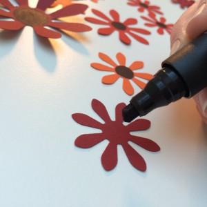 Blumen-Anmalen