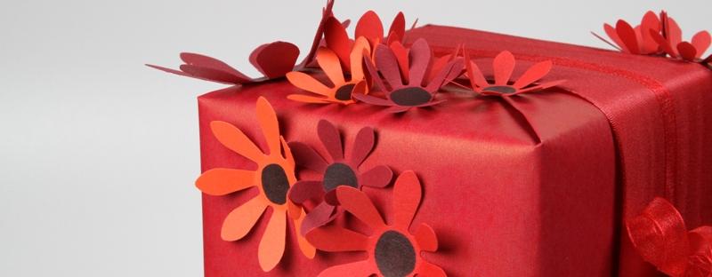 Geschenke mit Blumenzauber