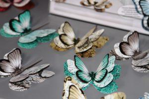 Deko-Schmetterlinge-Shabby-Aqua