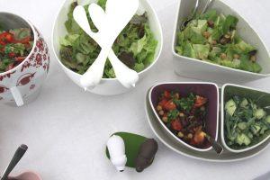 Salatbüfett-von-oben