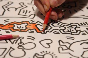 Ausmalen-Keith-Haring-XXL-Poster