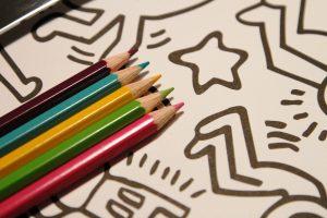 Buntstifte-Keith-Haring-XXL-Poster