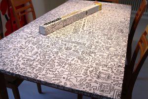 XXL-Keith-Haring-Tischdeko