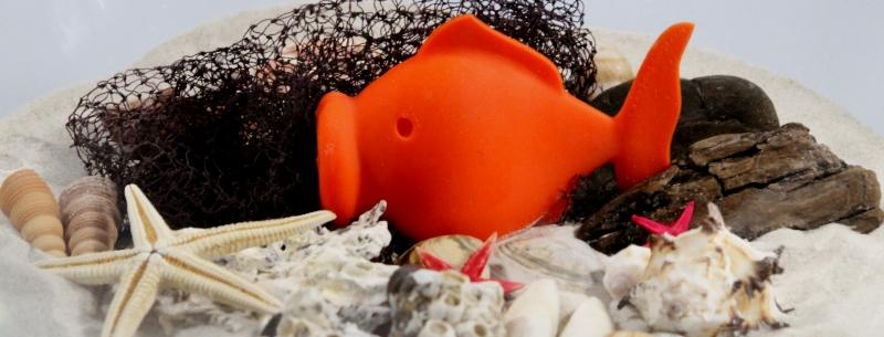 Ein Goldfisch im Meer