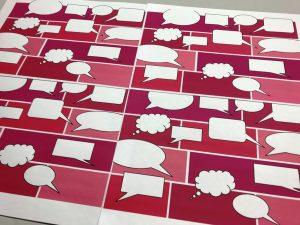 Geschenkpapier-Sprechblasen-Pink-1