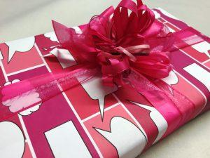 Geschenkpapier-Sprechblasen-Pink-2