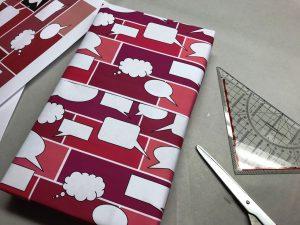 Geschenkpapier-Sprechblasen-Rot-3